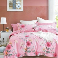 Sleep Buddy Set Sprei Pink Flower Cotton Sateen 160x200x30