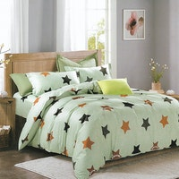 Sleep Buddy Set Sprei dan Bed Cover Staring Star Cotton Sateen 180x200x30