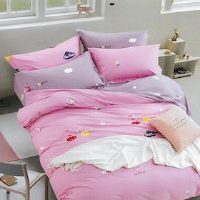 Sleep Buddy Set Sprei dan bed cover Baby Pig Cotton Sateen 160x200x30