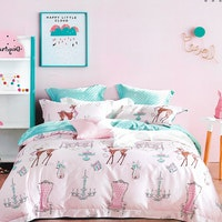 Sleep Buddy Set Sprei Happy Little Cotton Sateen 200x200x30