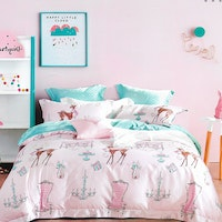 Sleep Buddy Set Sprei dan bed cover Happy Little Cotton Sateen 200x200x30