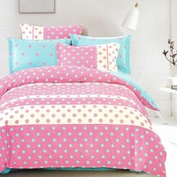 Sleep Buddy Set Sprei dan bed cover Chic Flower Cotton Sateen 160x200x30