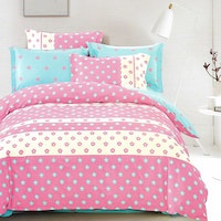 Sleep Buddy Set Sprei dan bed cover Chic Flower Cotton Sateen 200x200x30