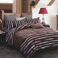 Sleep Buddy Set Sprei dan bed cover Dark Line Cotton Sateen 200x200x30