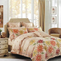 Sleep Buddy Set Sprei Sunset Flower Cotton Sateen 200x200x30