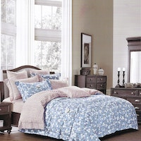 Sleep Buddy Set Sprei Jasmine Small Cotton Sateen 200x200x30