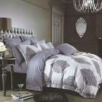 Sleep Buddy Set Sprei dan bed cover Baroque Damask Cotton Sateen 180x200x30