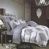 Sleep Buddy Set Sprei dan bed cover Baroque Damask Cotton Sateen 200x200x30