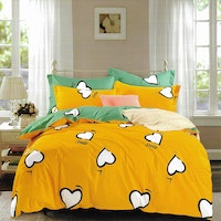 Sleep Buddy Set Sprei dan bed cover Lovely Cotton Sateen 160x200x30