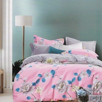 Sleep Buddy Set Sprei Grey Rose Cotton Sateen 160x200x30