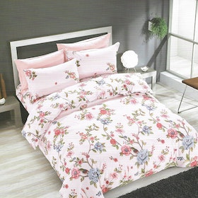 Sleep Buddy Set Sprei dan bed cover Rose Garden Cotton Sateen 180x200x30