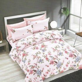 Sleep Buddy Set Sprei dan bed cover Rose Garden Cotton Sateen 200x200x30
