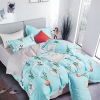 Sleep Buddy Set Sprei Leaf On Frame Cotton Sateen 160x200x30