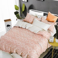 Sleep Buddy Set Sprei dan Bed Cover In Frame Cotton Sateen 180x200x30