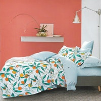 Sleep Buddy Set Sprei Peach Melba Cotton Sateen 160x200x30