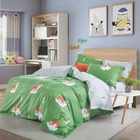 Sleep Buddy Set Sprei Hello Friends Cotton Sateen 160x200x30