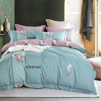 Sleep Buddy Set Sprei dan Bed Cover Hipster Cotton Sateen 180x200x30