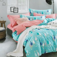 Sleep Buddy Set Sprei Blue Goose Cotton Sateen 180x200x30