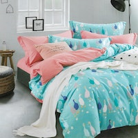Sleep Buddy Set Sprei dan Bed Cover Blue Goose Cotton Sateen 160x200x30