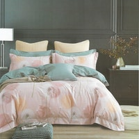 Sleep Buddy Set Sprei Pink Dandelion Cotton Sateen 160x200x30