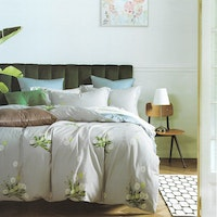 Sleep Buddy Set Sprei Mimosa Grey Cotton Sateen 160x200x30