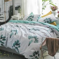 Sleep Buddy Set Sprei dan Bed Cover Philodendron Cotton Sateen 160x200x30
