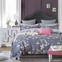 Sleep Buddy Set Sprei dan Bed Cover Almanda Color Cotton Sateen 180x200x30