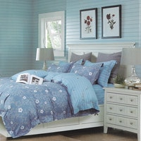 Sleep Buddy Set Sprei dan Bed Cover Sakura Line Cotton Sateen 180x200x30
