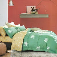 Sleep Buddy Set Sprei dan Bed Cover Clover Green Cotton Sateen 180x200x30