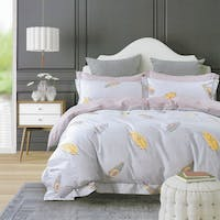 Sleep Buddy Set Sprei dan Bed Cover Feather Leaf Cotton Sateen 180x200x30