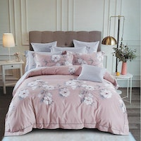 Sleep Buddy Set Sprei Cath Flower Cotton Sateen 180x200x30