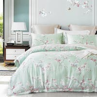 Sleep Buddy Set Sprei dan Bed Cover Green Sakura Tencel 160x200x30