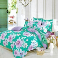 Sleep Buddy Set Sprei dan Bed Cover Big Flower Poly Tencel 180x200x30