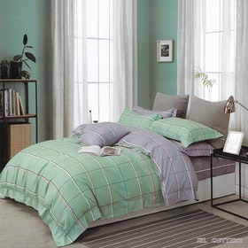 Sleep Buddy Set Sprei dan Bed Cover Two Side Square Cotton Sateen 160x200x30