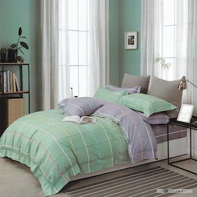 Sleep Buddy Set Sprei dan Bed Cover Two Side Square Cotton Sateen 180x200x30