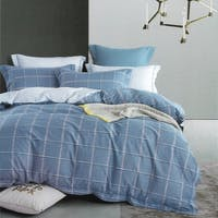 Sleep Buddy Set Sprei dan Bed Cover Minimalis Square Cotton Sateen 180x200x30