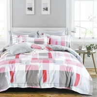 Sleep Buddy Set Sprei dan Bed Cover Paint Pink Cotton Sateen 180x200x30