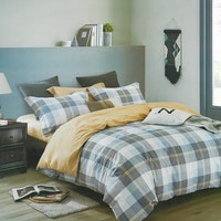 Sleep Buddy Set Sprei Buro Square Cotton Sateen 180x200x30
