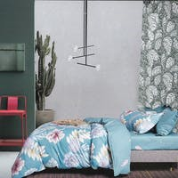 Sleep Buddy Sleep Buddy Set Sprei Blue Big Flower Cotton Sateen 180x200x30