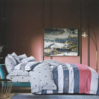 Sleep Buddy Sleep Buddy Set Sprei dan bed Cover Jessica Line Cotton Sateen 180x200x30