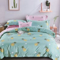 Sleep Buddy Sleep Buddy Set Sprei dan Bed Cover Pineapple Pattern Cotton Sateen 180x200x30