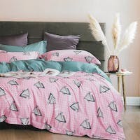 Sleep Buddy Set Sprei dan Bed Cover Still Polka Pink Tencel Poly 160x200x30