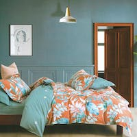 Sleep Buddy Sleep Buddy Set Sprei dan Bed Cover Orange Flower Cotton Sateen 180x200x30