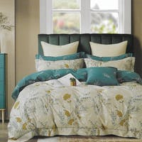 Sleep Buddy Sleep Buddy Set Sprei dan Bed Cover Pattern Leaf Cotton Sateen 180x200x30