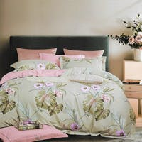 Sleep Buddy Sleep Buddy Set Sprei dan Bed Cover Flow Monstera Cotton Sateen 180x200x30