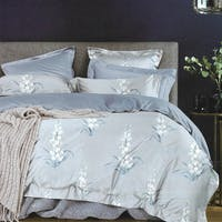 Sleep Buddy Sleep Buddy Set Sprei dan Bed Cover Bonny Grey Cotton Sateen 180x200x30