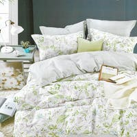 Sleep Buddy Sleep Buddy Set Sprei dan Bed Cover Greeny Garden Cotton Sateen 180x200x30
