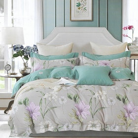Sleep Buddy Sleep Buddy Set Sprei dan Bed Cover Peace Garden Cotton Sateen 160x200x30