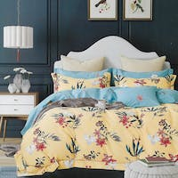 Sleep Buddy Set Sprei dan Bed Cover Anthu Yellow Cotton Sateen 120x200x30