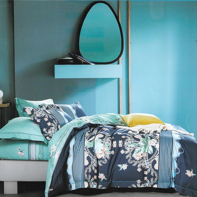 Sleep Buddy Set Sprei Classic Navy Cotton Sateen 180x200x30